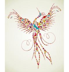 Spring Pheonix bird texture vector image vector image