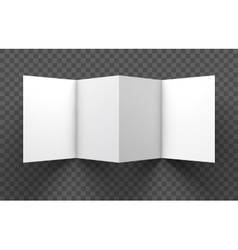 Trifold mockup on transparent background vector image
