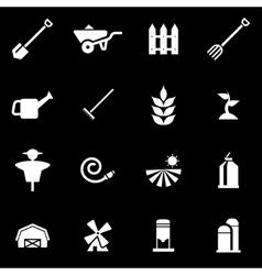 white farming icon set vector image