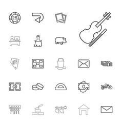 22 image icons vector