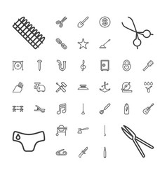37 metal icons vector
