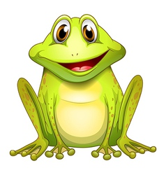 A smiling frog vector