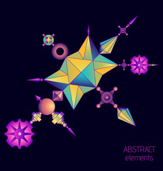 absatract elements set vector image