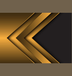 abstract gold metallic arrow direction with grey vector image