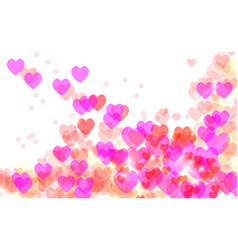 abstract heart valentine background festive vector image