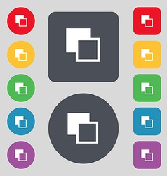 Active color toolbar icon sign A set of 12 colored vector image