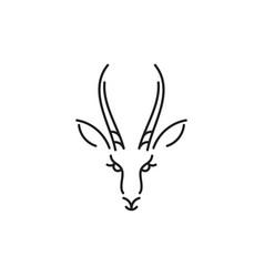 antelope springbok outline style vector image
