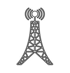 Antenna tower broadcast connection line vector