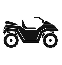 Atv quad bike icon simple style vector