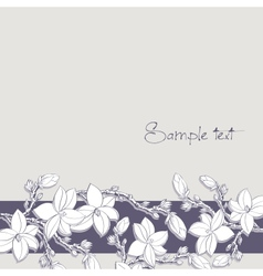 background magnolia flowers for card or invitation vector image