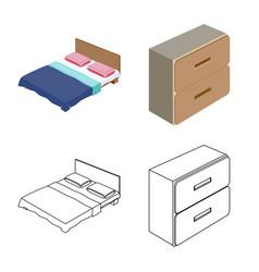 Bedroom and room logo vector