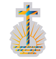 blue and yellow symbol a new apostolic vector image