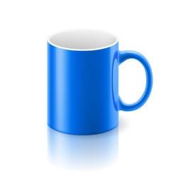 Blue mug vector