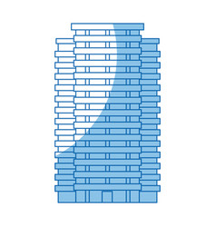 Building skyscraper tower windows exterior vector