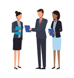 Business teamwork meeting faceless vector