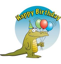 Cartoon Party Alligator vector