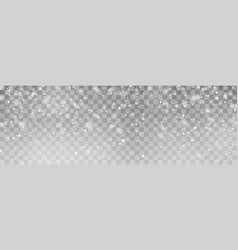 christmas falling snow isolated on backgrou vector image