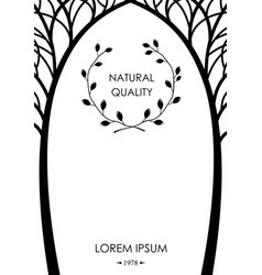 cover from silhouettes of trees vector image