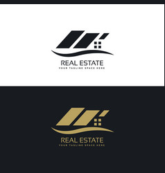 Creative real estate logo design vector