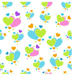 cute carrtoon hearts for scrapbook paper vector image