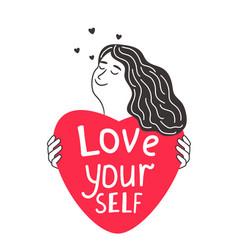 cute girl love yourself vector image