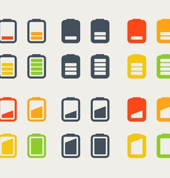 Different accumulator icons vector