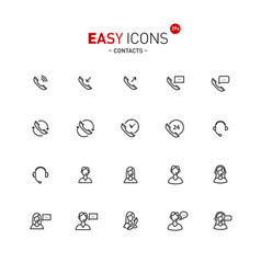 Easy icons 29a contacts vector
