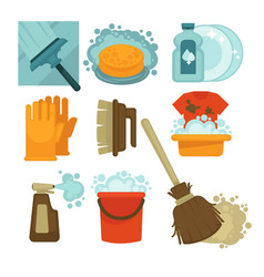 equipment for cleaning service workers isolated vector image