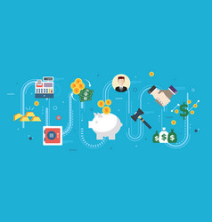 Finance and economy investment savings business vector