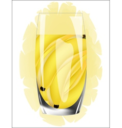 Fresh banana juice vector image