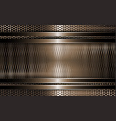 Geometric brown background as a metal grille with vector