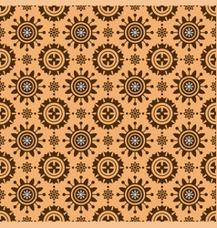 geometric light brown circles pattern vector image