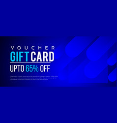gift voucher discount coupon banner vector image