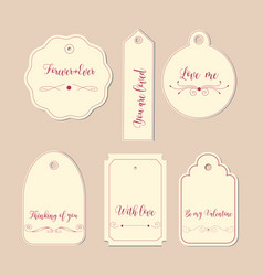 hand drawn labels and tags elements collection vector image