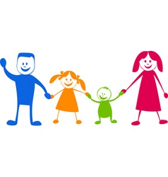 happy family cartoon illustra vector image
