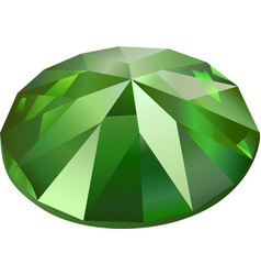 isolated green demantoid vector image