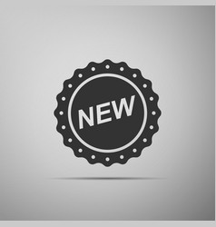label new sign icon isolated on grey background vector image