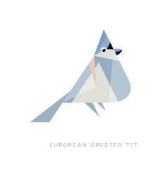 logo design of european crested tit colored bird vector image vector image
