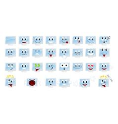 monitors emoticons vector image