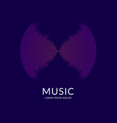 Music equalizer abstract background with vector