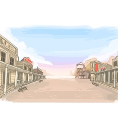 Old wilde west scenery vector