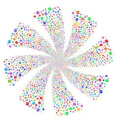 pharmacy tablet fireworks swirl flower vector image