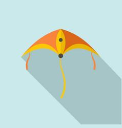 plastic kite icon flat style vector image