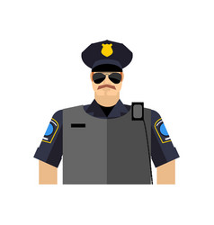police officer portrait policeman in uniform vector image