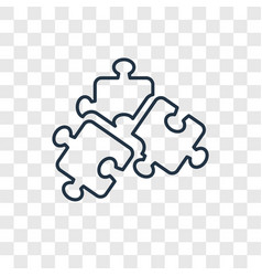 puzzle toy concept linear icon isolated on vector image