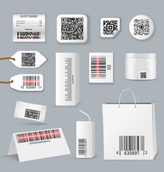 qr bar code using scanning icon set vector image