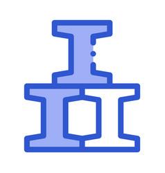 railroad metallurgical icon vector image