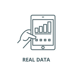 real data line icon linear concept vector image