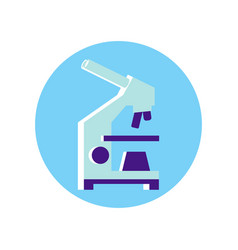 scientific microscope icon vector image
