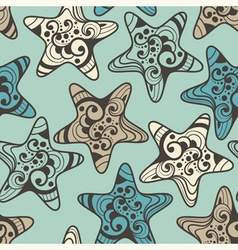 Seamless pattern with highly detailed stars vector